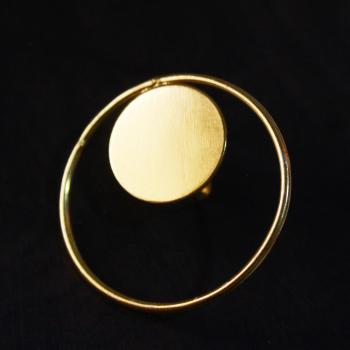 Gold plated Circle ring