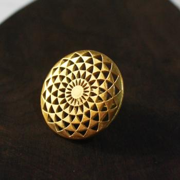 Gold plated geometric ring