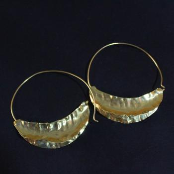 Gold plated boat earrings