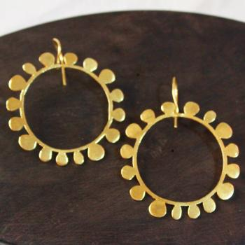 Gold plated sun earrings