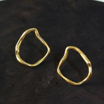 Gold plated irregular shaped earrings